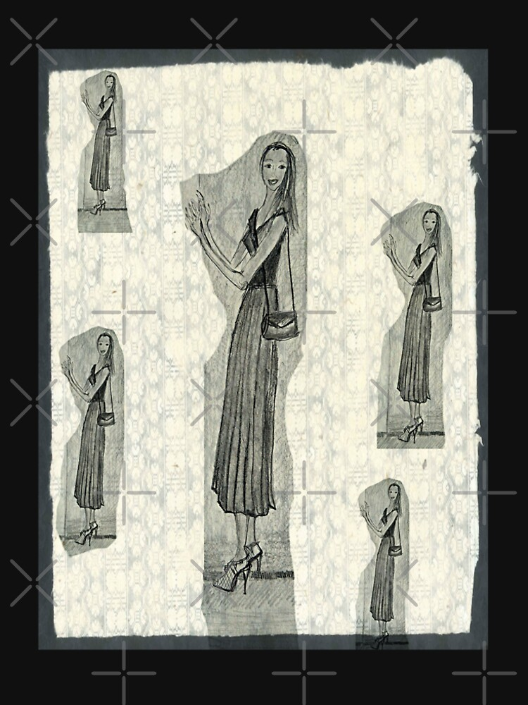 Fashion Illustration Girl Wearing a Midi Skirt by IvanaKada