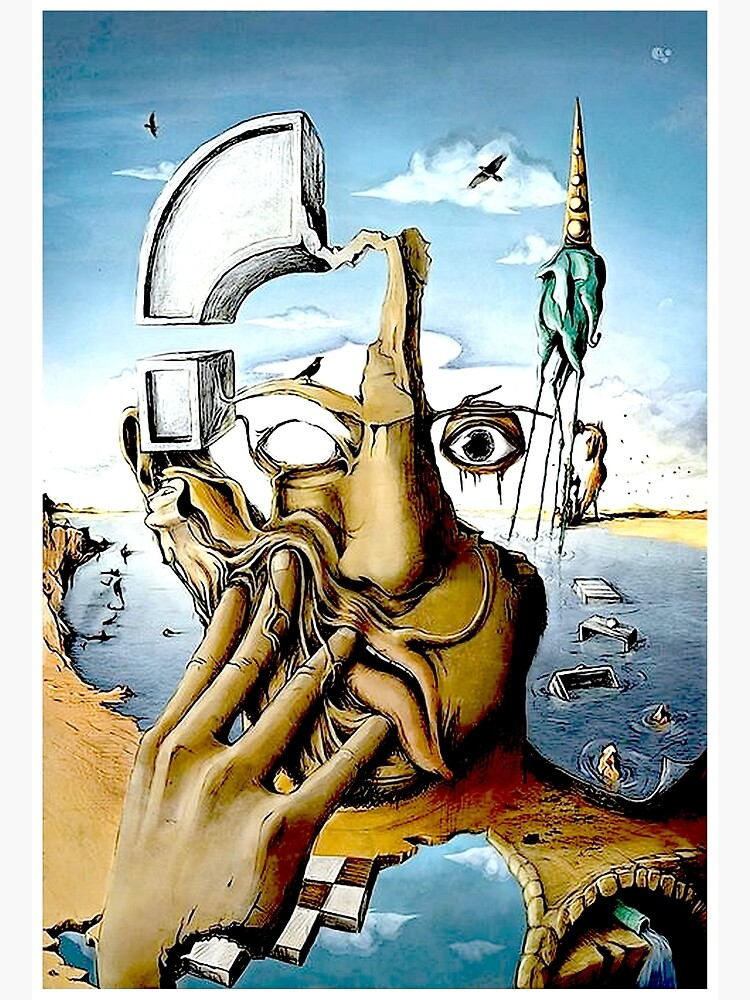 SELF PORTRAIT : Abstract Salvador Dali Print by posterbobs