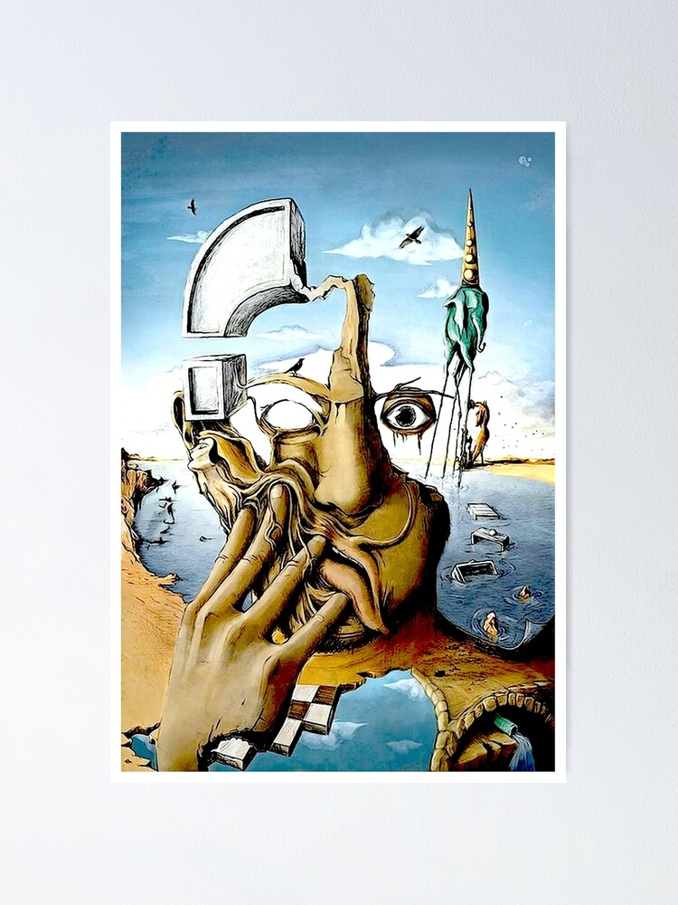 Alternate view of SELF PORTRAIT : Abstract Salvador Dali Print Poster