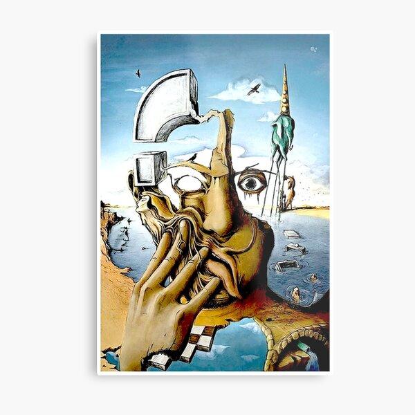 SELF PORTRAIT : Abstract Salvador Dali Print Metal Print