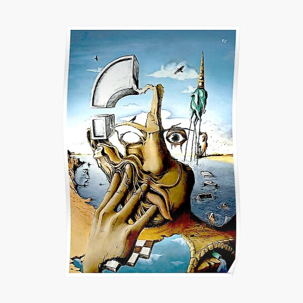 SELF PORTRAIT : Abstract Salvador Dali Print Poster