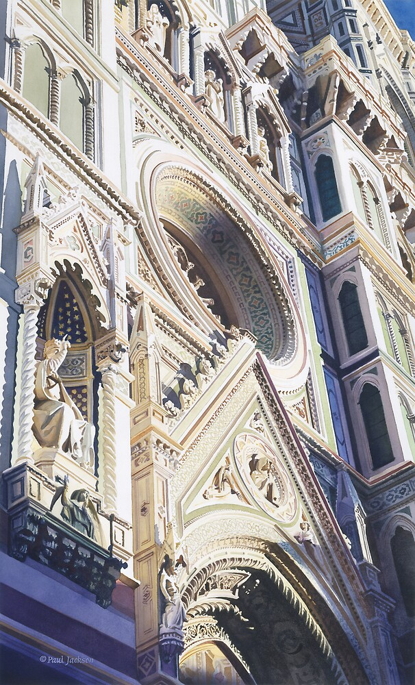Watercolour Paintings Of Cathedral Doors