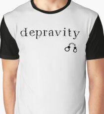 Depravity Handcuffs Small Monotone Light Graphic T-Shirt
