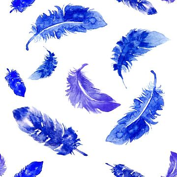 blue feathers by rhebroman