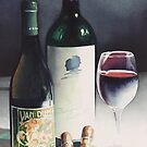 """Wine & Cigars"" Watercolor by Paul Jackson"