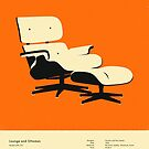 LOUNGE AND OTTOMAN (1956) by JazzberryBlue