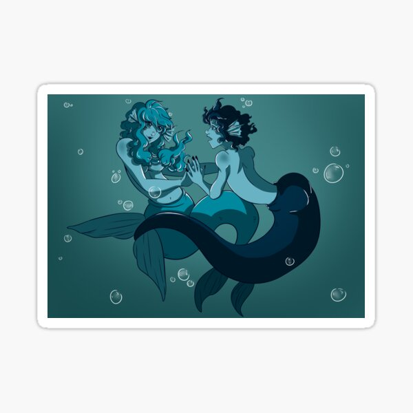 Marfolk - Mermaid and Merman couple Sticker