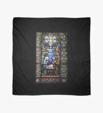 Santa Maria de Montserrat Abbey, Catalonia, Spain Stained Glass window  Scarf