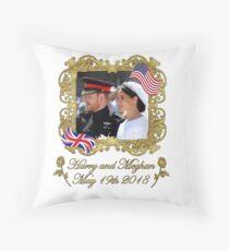 Prince Harry and Meghan Markle Royal Wedding Floor Pillow