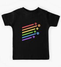 Regenbogen Würfel Set Tabletop RPG Gaming Kinder T-Shirt