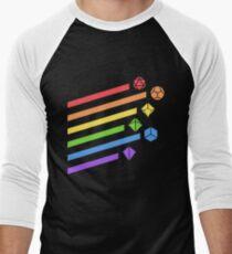 Rainbow Dice Set Tabletop RPG Gaming Men's Baseball ¾ T-Shirt