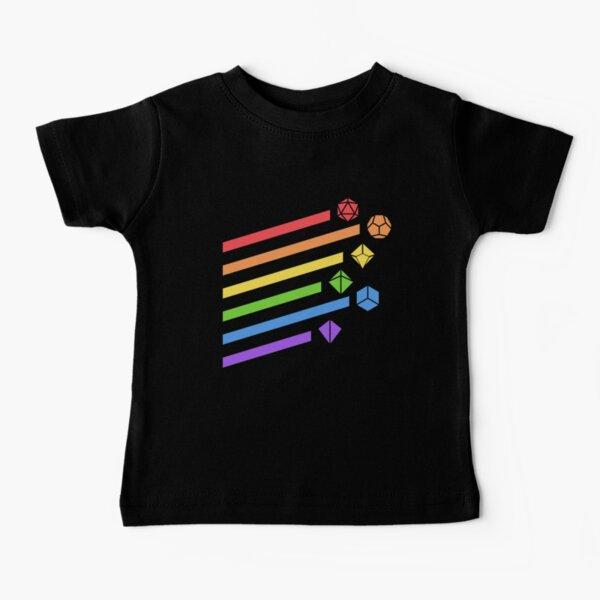 Rainbow Dice Set Tabletop RPG Gaming Baby T-Shirt