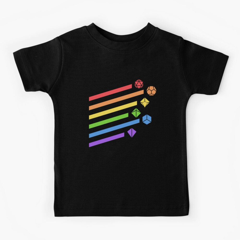 Rainbow Dice Set Tabletop RPG Gaming Kids T-Shirt