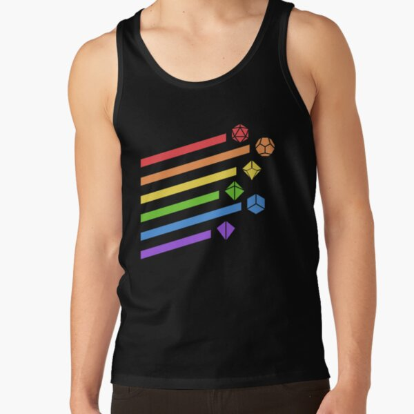 Rainbow Dice Set Tabletop RPG Gaming Tank Top