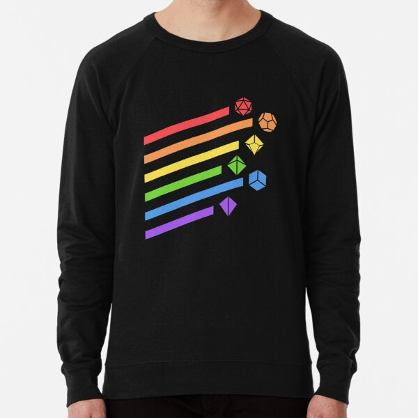 Rainbow Dice Set Tabletop RPG Gaming Lightweight Sweatshirt