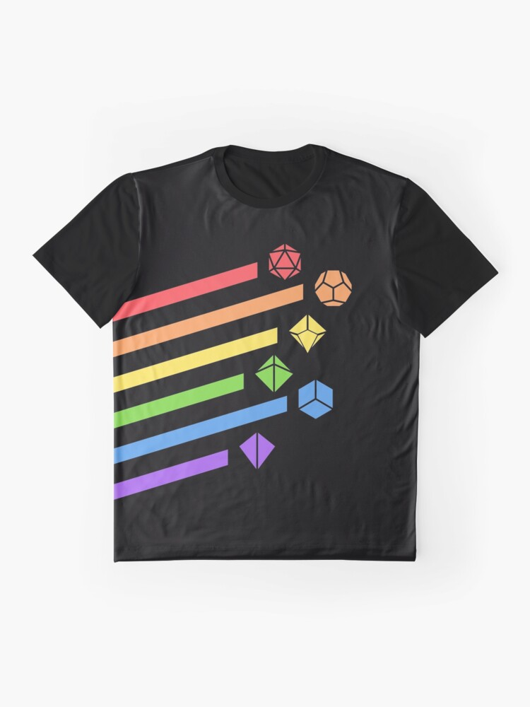 Alternate view of Rainbow Dice Set Tabletop RPG Gaming Graphic T-Shirt