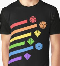 Regenbogen Würfel Set Tabletop RPG Gaming Grafik T-Shirt