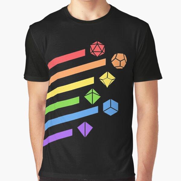 Rainbow Dice Set Tablero RPG Gaming Camiseta gráfica