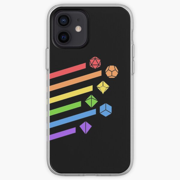 Rainbow Dice Set Tabletop RPG Gaming iPhone Soft Case