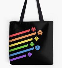 Rainbow Dice Set Tabletop RPG Gaming Tote Bag