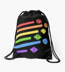Rainbow Dice Set Tabletop RPG Gaming Drawstring Bag