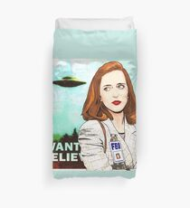 X Files I Want to Believe Scully by Mimie ( more 70 designs XFiles in my shop) Duvet Cover