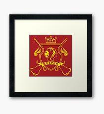 RED LION KEEPER Framed Print