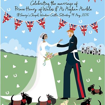 The Royal Wedding © Copyright Bonnie Portraits sold only on Redbubble.com by BonniePortraits