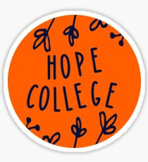 Hope College (floral circle) Sticker