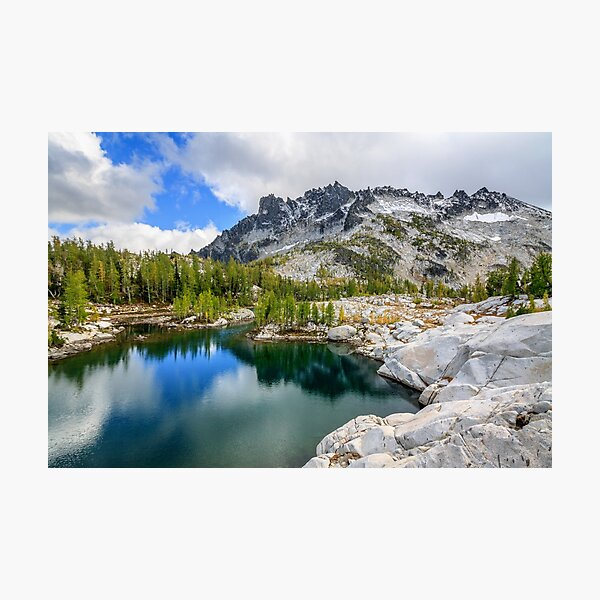 McClellan Peak over Leprechaun Lake, Enchantment Lakes, Alpine Lakes Wilderness, Washington Photographic Print