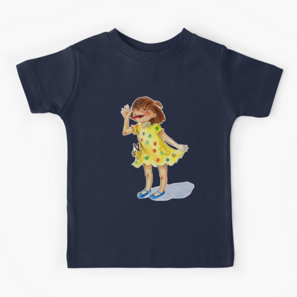 Rebel Girl in a Yellow Dress Kids T-Shirt