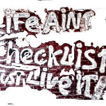 Life Ain't a Checklist by bywhacky