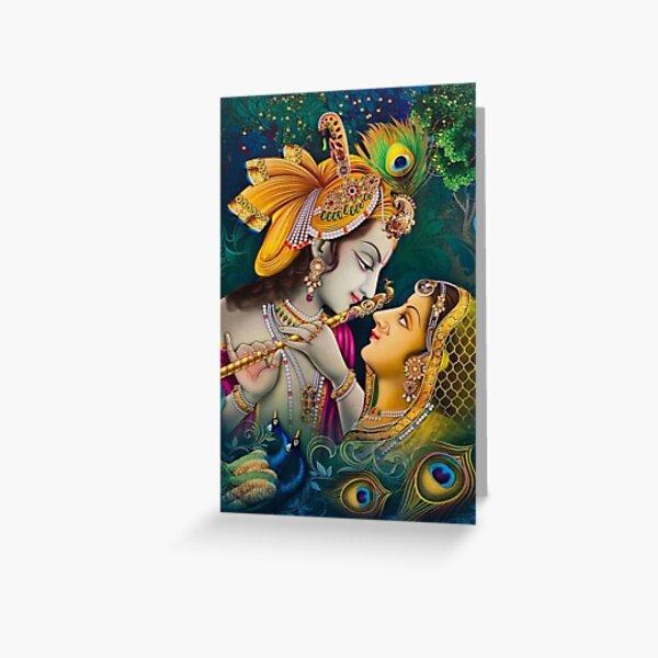 Lord Krishna / Hindu God / Krishna Stickers Greeting Card