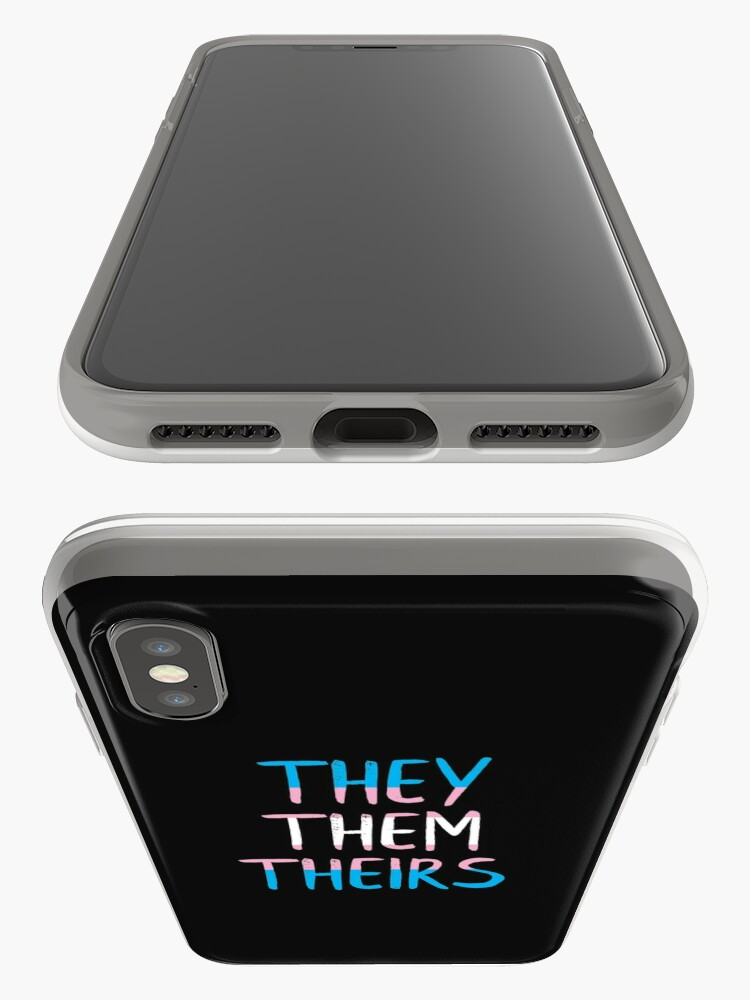 Alternate view of They, Them, Theirs - Respect the Pronoun iPhone Case & Cover