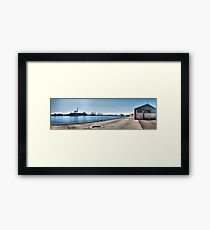 Fremantle Harbour from the Maritime museum Framed Print