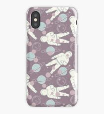 Purple Space Astronaut iPhone Case