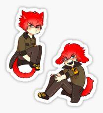 p4u2   kitty minazuki + puppy sho Sticker