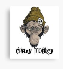 geek the is the monkey t-shirt don't stress Canvas Print