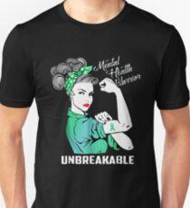 Mental health warrior unbreakable Unisex T-Shirt