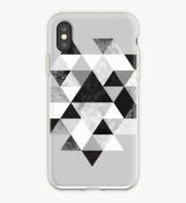 Graphic 202 Black and White iPhone Case
