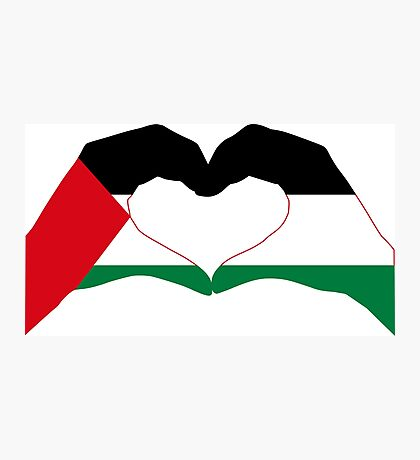 We Heart Palestine Patriot Flag Series  Photographic Print
