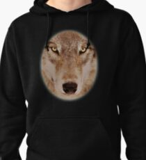 Face of A Lone Wolf  Pullover Hoodie