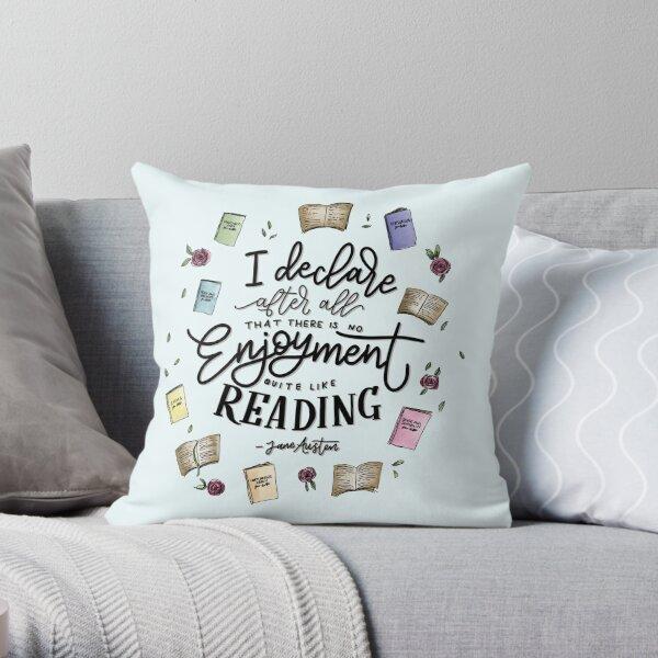 No Enjoyment Like Reading Throw Pillow