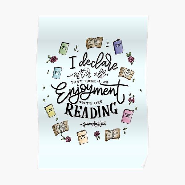 No Enjoyment Like Reading Poster