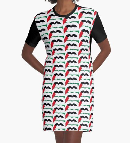We Heart Palestine Patriot Flag Series  Graphic T-Shirt Dress
