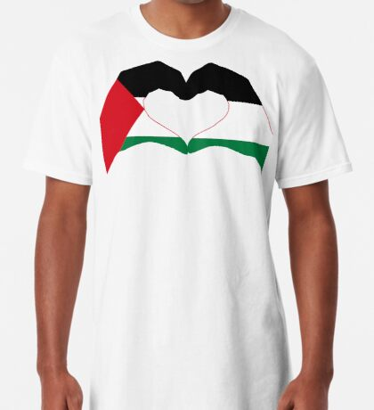 We Heart Palestine Patriot Flag Series  Long T-Shirt