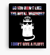 Royal Wedding - Marriage Harry Meghan Fluffy Cat Sarcasm Canvas Print