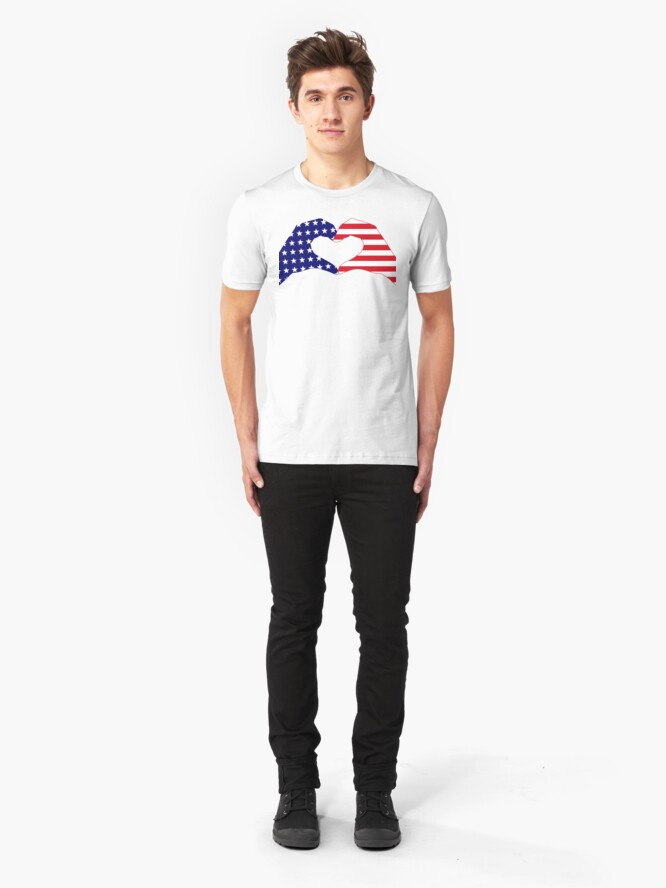 Alternate view of We Heart the United States of America Patriot Series Slim Fit T-Shirt