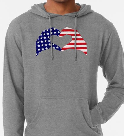 We Heart the United States of America Patriot Series Lightweight Hoodie