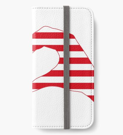 We Heart the United States of America Patriot Series iPhone Wallet